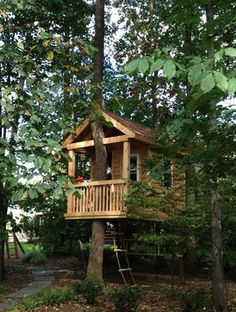 "1. BUILD A TREEHOUSE - ""A treehouse can be a creative way to add character. It's fun for kids AND adults...""  -Tree House by Bianco Design & Build Corp."