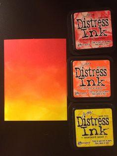 Distress Ink Blends http://damselofdistressedcards.blogspot.com
