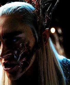 Thranduil's scars. love this bit. not only is it integrated so well but it adds depth to his character