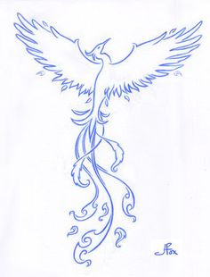 Phoenix tattoo design for ~LittlemissLadyBug I didn't design this for a specific location.with the phoenix in min. Tattoo Ave Fenix, Fenix Tattoos, Phoenix Design, Phoenix Tattoo Design, Simple Phoenix Tattoo, Body Art Tattoos, New Tattoos, Tribal Tattoos, Tatoos