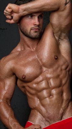 Muscle hunk zeb atlas in the nasty snack