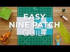 Make an Easy Nine Patch Quilt - Quilt Snips (Missouri Star Quilt Company…