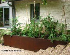 I love the look of These steel raised veggie beds. I love the look of These steel raised veggie beds Spring Vegetable Garden, Vegetable Garden Planning, Backyard Vegetable Gardens, Vegetable Garden Design, Garden Landscape Design, Garden Spaces, Garden Beds, Dig Gardens, Pot Jardin