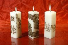 Candles Henna Ornament