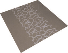 A fun contemporary design engraved into polished Coffee porcelain tiles.