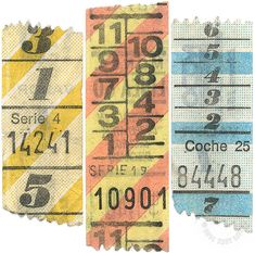 Sweet vintage bus tickets. Buenos Aires, Argentina.