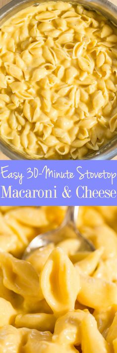Easy 30-Minute Stovetop Macaroni and Cheese - Classic mac and cheese the whole family will love! The creamy, cheesy comfort food you crave!! So much better than anything out of a box and just as easy!!