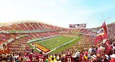 Bjarke Ingels design for new Washington football stadium generating lots of opinion on the moat - Baltimore Business Journal Redskins Stadium, Sports Stadium, Indianapolis Colts, Cincinnati Reds, Pittsburgh Steelers, Dallas Cowboys, New Nfl Stadiums, Bjarke Ingels Architecture, American Football