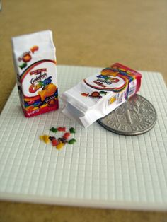 Miniature Goldfish Crackers - 1/12 Scale Dollhouse Miniature