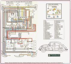 wiring diagram vw beetle sedan and convertible 1961-1965   vw, Wiring diagram