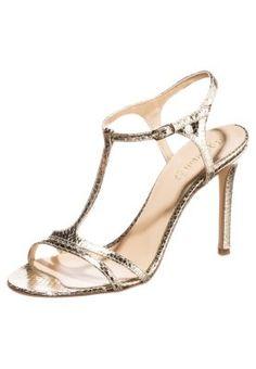 High Heel Sandalette - platino