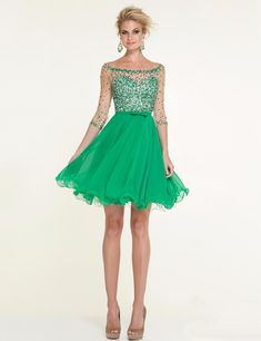 Cheap dress cutout, Buy Quality dresses heart directly from China dress right dress Suppliers: 2015 Fresh Green Homecoming Dresses with Sleeve Grade Graduation Dress vestido de festa curto Beaded Sequins Cocktail Party Gown Pretty Homecoming Dresses, Grad Dresses Long, Plus Size Formal Dresses, Prom Dresses With Sleeves, Tulle Prom Dress, Gold Dress, Emerald Green Cocktail Dress, Cocktail Length Dress, Cocktail Dresses