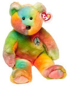 78271c20fcc 1 X Ty Beanie Buddies - Peace the Ty-Dyed Bear  Official Ty Beanie Buddie  Product. Peace the Ty-Dyed Beanie Buddy.