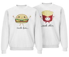 Fry Friend: Custom Unisex Basic Jerzees NuBlend Crewneck Sweatshirt - Customized Girl