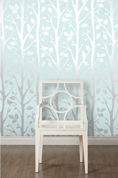 teen girls bedroom ideas, Wallpaper™ Shimmer Harmony Wallpaper Teal