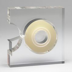 Robert P. Gottlieb. Tape Dispenser. 1963-73. Two's Company, Mount Vernon, NY. Lucite and steel. Gift of the manufacturer. SC14.1974. Architecture and Design
