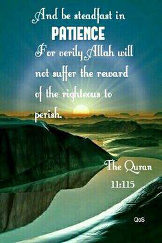 The noble Quran, Surah Hud 11: 115
