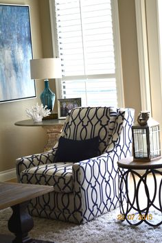 This Taylor King Sectional Is A Cozy Gathering Spot In The Living Room. The  Lee Jofa Zebra Throw Pillows Add A Fun Pattern To The Navy Blue And Tuu2026