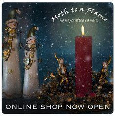 Handmade Candles, Kilkenny, Ireland. Moth to a Flame. Candles Online, Handmade Candles, Moth, Ireland, Shopping, Irish