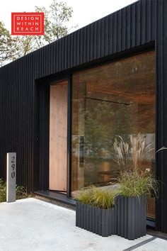 10 Modern House Numbers to Boost Curb Appeal in No Time Flat Modern Architecture House, Architecture Design, Modern Home Exteriors, Sustainable Architecture, Modern Exterior House Designs, Decoration Facade, House Cladding, Interior Cladding, Black House Exterior