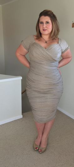 Monica Dress in Champagne by Pinup Girl Clothing - Rachel Gee Bee Beautiful Hips, Beautiful Women, Curvy Girl Fashion, Plus Size Fashion, Pinup Girl Clothing, Big Butt, Types Of Fashion Styles, Formal Wear, Plus Size Dresses