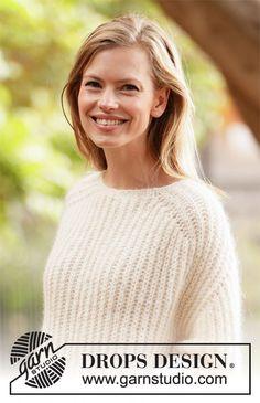 Cloud fluff / DROPS - free knitting patterns by DROPS design - Cloud fluff / DROPS – free knitting patterns by DROPS design - Knitting Designs, Knitting Patterns Free, Knit Patterns, Free Knitting, Baby Knitting, Drops Design, Vogue Knitting, Cardigan Au Crochet, Knit Crochet
