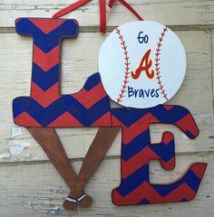 LOVE Baseball/ Atlanta Braves Door Hanger