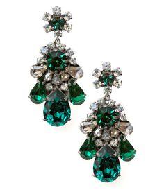 Boucles d'oreilles Emerald / Emerald earrings - Shourouk: wouah !!