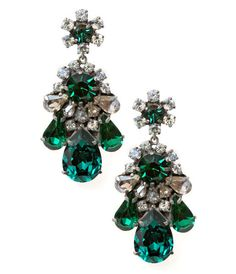 Boucles d'oreilles Emerald / Emerald earrings - Shourouk: wouah !!