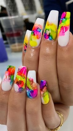 Stylish and Bright Summer Nail Design Colors and Ideas Part Cute Summer . Stylish and Bright Summer Nail Design Colors and Ideas Part Cute Summer nails; Bright Nail Designs, Long Nail Designs, Diy Nail Designs, Acrylic Nail Designs, Bright Summer Acrylic Nails, Best Acrylic Nails, Bright Colored Nails, Bright Nail Art, Colorful Nails