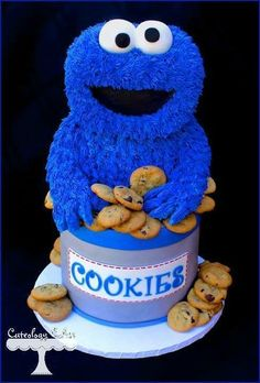 Adorable Cookie Monster cake ♥