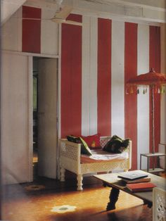 """Living room of Agathe Gerin and husband Desmond Lazaro. Image from """"World of Interiors"""" Sept. 2009 Issue"""