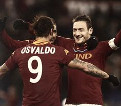 Pablo Osvaldo and Francesco Totti, AS Roma.