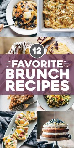 Our favorite brunch recipes! Fluffy syrupy pancakes, cheesy loaded egg bakes, sweet gooey pastries, and more. YUM! #brunch #breakfast #recipes | pinchofyum.com
