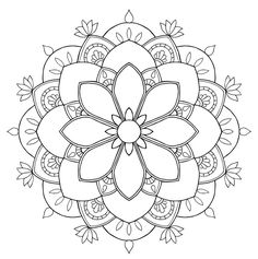 Flower mandala mandala coloring mandala coloring pages, mand Adult Coloring Pages, Pattern Coloring Pages, Mandala Coloring Pages, Colouring Pages, Coloring Books, Mandala Design, Mandala Pattern, Mosaic Patterns, Mandalas Painting