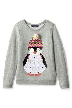 Girls+Fleece+Embellished+Sweatshirt+from+Lands'+End