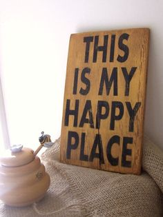This Is My Happy Place 6 x 9 Small Wood by Urbanfarmhousefinish