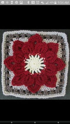 Another Dahlia square (poinsettia-like :-)) color combination http://www.ravelry.com/patterns/library/crocodile-stitch-afghan-block---dahlia