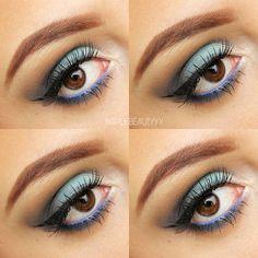 Blue Smokey - #eyemakeup #makeup #eyeshadow #eyes #bluesmokey #blueshadow #eyetutorial - bellashoot.com