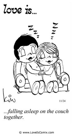 Love Is. falling asleep on the couch together. Love Is Cartoon, Love Is Comic, Mickey Bad, What Is Love, Love You, Love My Husband, Love Notes, Political Cartoons, Love And Marriage