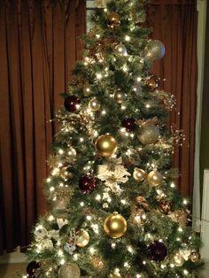 Gold, brown and champange Christmas Tree