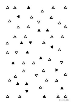 FREE PRINTABLE // triangle pattern/graphic print. Great for minimalistic and/or Scandinavian inspired interiors. Free download on A5 size -- design by Birambi