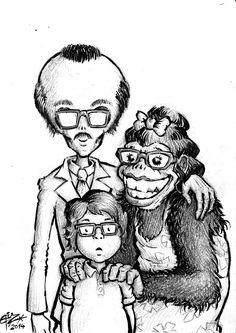 """Family Ties"" Ties, Illustrations, Art, Neck Ties, Craft Art, Kunst, Tie, Illustration, Illustrators"