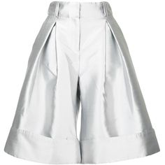 Antonio Berardi wide-leg cropped trousers (17.355.785 VND) ❤ liked on Polyvore featuring pants, capris, grey, high-waisted wide leg pants, straight pants, high-waisted trousers, wide leg cropped trousers and metallic high waisted pants