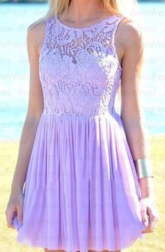 Lilac homecoming dress, such a pretty color! :)