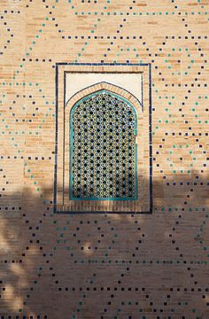 Window, Samarkand Uzbekistan I love the pattern in the wall Classic Architecture, Islamic Architecture, Architecture Details, Asian Windows, Silk Road, Moorish, Central Asia, North Africa, Islamic Art