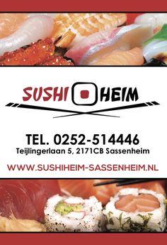 Grafische vormgeving advertentie SushiHeim Sassenheim www.omega-design.nl