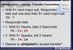 BIDDING - Jacoby Transfer Convention - Red-Transfers