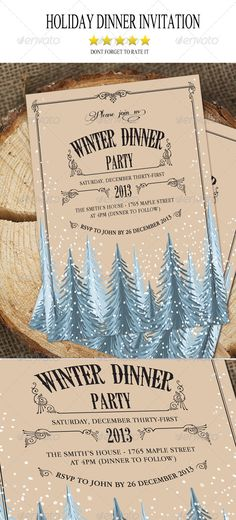 Holiday Dinner Invitation from  http://graphicriver.net/user/staticeblue