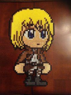 Attack on Titan: Armin perler beads by ChizzyLizzy on deviantART